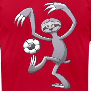 Sloth Playing Soccer T-Shirts - Men's T-Shirt by American Apparel