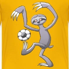 Sloth Playing Soccer Kids' Shirts