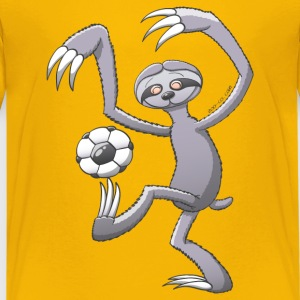 Sloth Playing Soccer Kids' Shirts - Kids' Premium T-Shirt