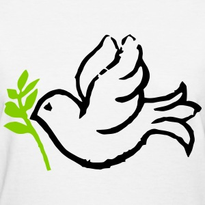 Dove and Olive Branch Women's T-Shirts - Women's T-Shirt