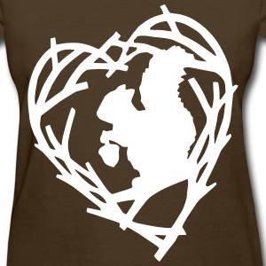 Squirrel Heart Wreath - Women's T-Shirt