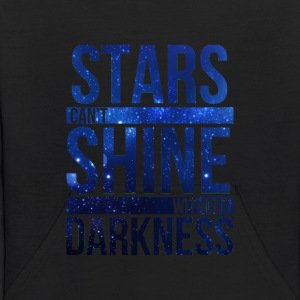 (STARS CAN'T SHINE WITHOUT DARKNESS) Blue Galaxy Sweatshirts - Kids' Hoodie