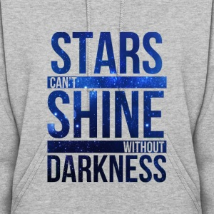 (STARS CAN'T SHINE WITHOUT DARKNESS) Blue Galaxy Hoodies - Women's Hoodie