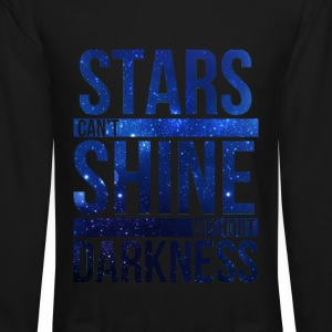 (STARS CAN'T SHINE WITHOUT DARKNESS) Blue Galaxy Long Sleeve Shirts - Crewneck Sweatshirt