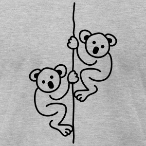 2 Koalas on a Rope T-Shirts - Men's T-Shirt by American Apparel