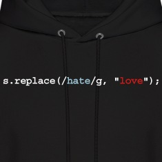 replace hate with love Hoodies