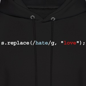 replace hate with love Hoodies - Men's Hoodie