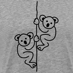 2 Koalas on a Rope T-Shirts - Men's Premium T-Shirt