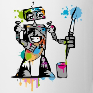 A robot with a paintbrush Bottles & Mugs - Coffee/Tea Mug