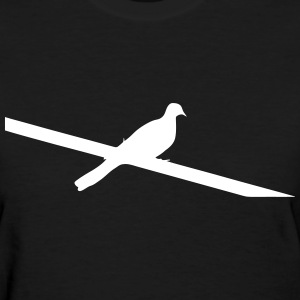 Bird on Power Line Women's T-Shirts - Women's T-Shirt