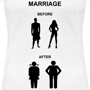 Marriage before / after Women's T-Shirts - Women's Premium T-Shirt