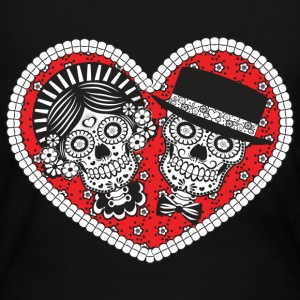 Sugar Skull Couple Long Sleeve Shirts - Women's Long Sleeve Jersey T-Shirt