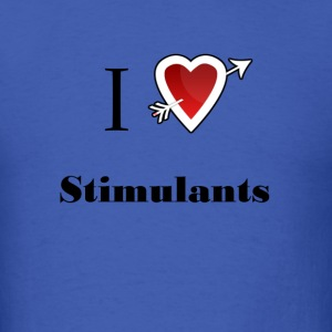 i love Stimulants heart T-Shirts - Men's T-Shirt
