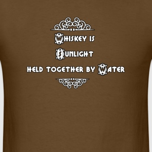 whiskey is Sunlight held together by Water T-Shirts - Men's T-Shirt