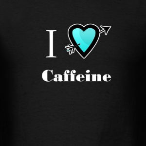 i love Caffeine heart  T-Shirts - Men's T-Shirt