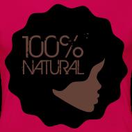 Design ~ 100% Natural Afro T-Shirt Women's Premium T-Shirt
