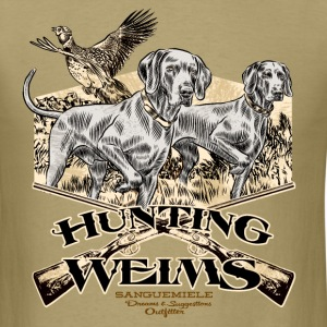 hunting_weims T-Shirts - Men's T-Shirt
