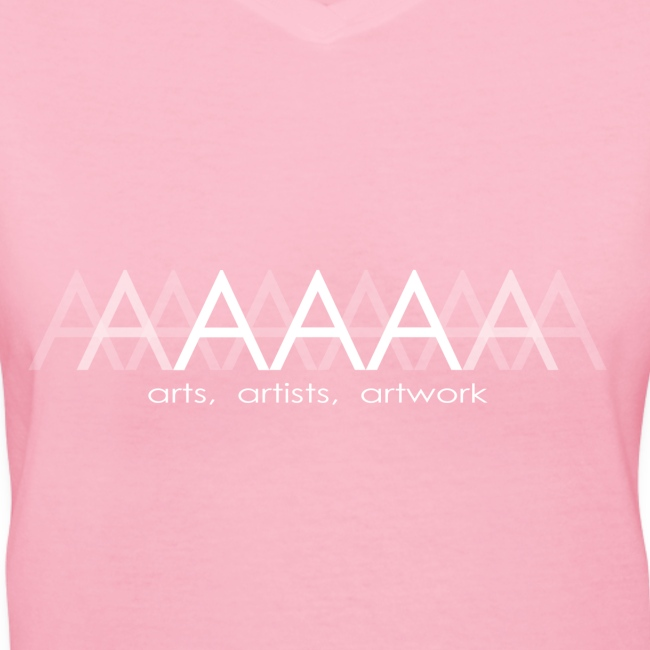 Women's V-Neck T-Shirt Arts Artists Artwork