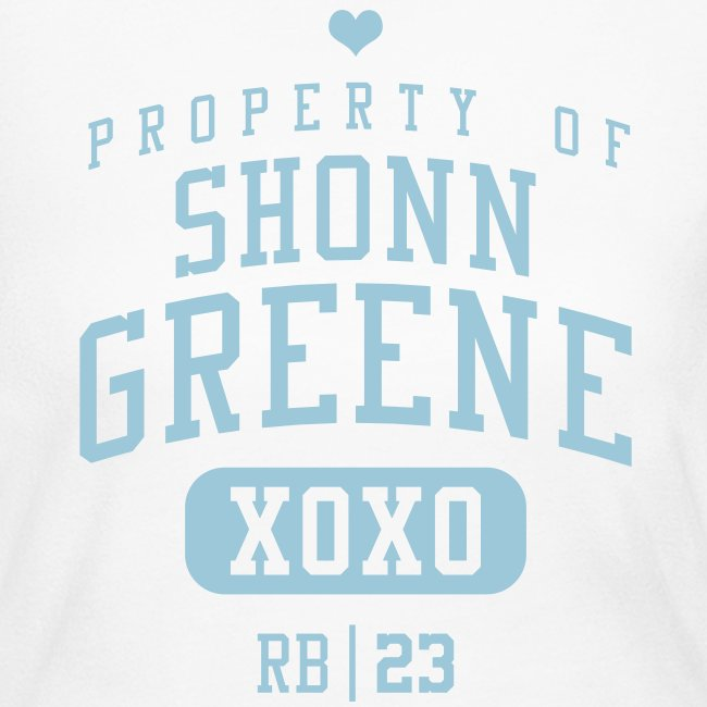 PROPERTY OF Shonn Greene (RB #23) XOXO