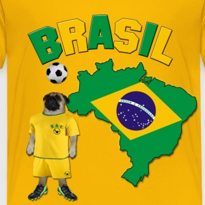 Brazil Football World Cup Pug Baby & Toddler Shirts - Toddler Premium T-Shirt