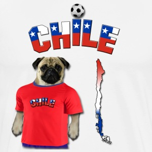 Chile Football World Cup Pug T-Shirts - Men's Premium T-Shirt