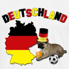 Germany Football World Cup Pug T-Shirts
