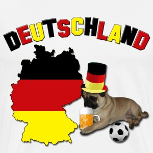 Germany Football World Cup Pug T-Shirts - Men's Premium T-Shirt