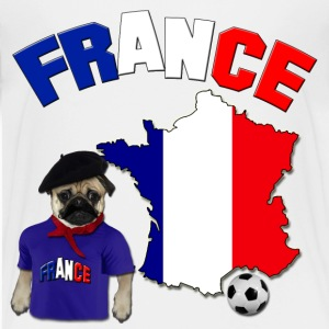 France Football World Cup Pug Baby & Toddler Shirts - Toddler Premium T-Shirt