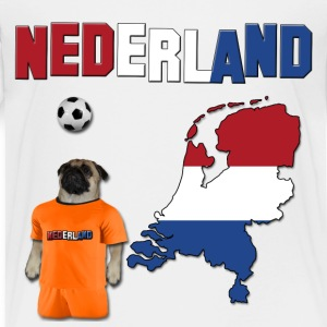 Netherland Football World Cup Pug Baby & Toddler Shirts - Toddler Premium T-Shirt