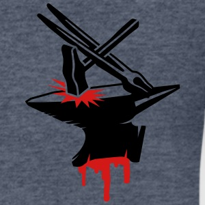 Anvil with hammer and tongs T-Shirts - Men's V-Neck T-Shirt by Canvas