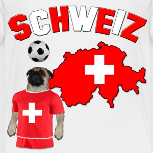 Switzerland Football Pug Baby & Toddler Shirts - Toddler Premium T-Shirt