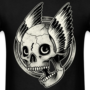 Bikers Skull Wings  - Men's T-Shirt