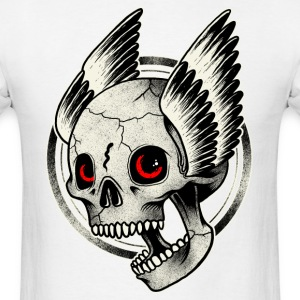 Bikers Skull Red eye - Men's T-Shirt
