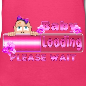 Peek A Boo Baby Girl Loading mini 3 Women's T-Shirts - Women's V-Neck T-Shirt