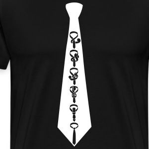 Tie tie on tie Shirt - Men's Premium T-Shirt