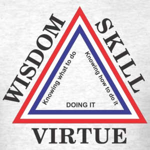 WisdomSkillVirtue - Men's T-Shirt