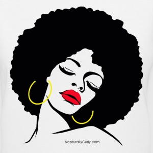 Fly Afro Diva - Women's V-Neck T-Shirt
