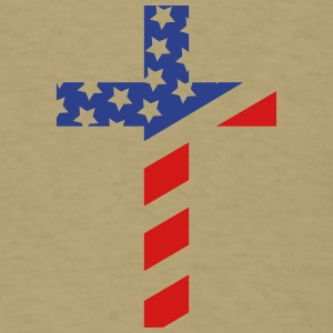 American (Small) Cross T Shirt - Men's T-Shirt