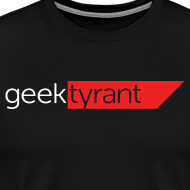 Design ~ Mens T-shirt // GeekTyrant RED Logo