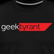 Design ~ Mens T-shirt // GeekTyrant RED Logo