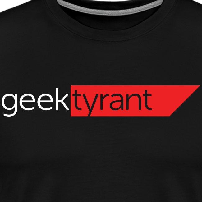 Mens T-shirt // GeekTyrant RED Logo