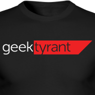 Design ~ Mens Long Sleeve  // GeekTyrant RED Logo