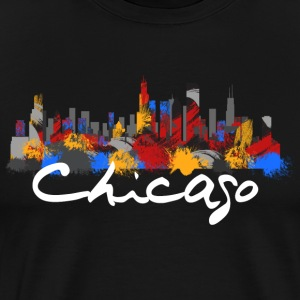 Chicago Illinois Skyline - Men's Premium T-Shirt