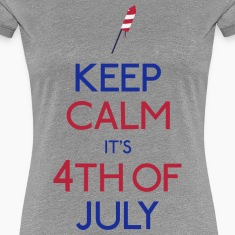 keep calm 4th of july Women's T-Shirts