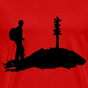 Hiking, Hiker (men) T-Shirts - Men's Premium T-Shirt
