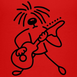 Dog with guitar Kids' Shirts - Kids' Premium T-Shirt