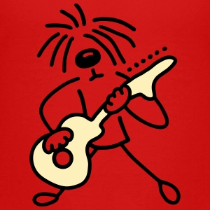 Dog with guitar - V2 Kids' Shirts - Kids' Premium T-Shirt