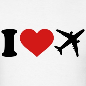I love Airplane T-Shirts - Men's T-Shirt