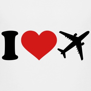 I love Airplane Kids' Shirts - Kids' Premium T-Shirt