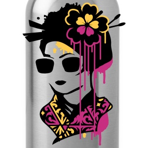 A geisha with sunglasses  Bottles & Mugs - Water Bottle